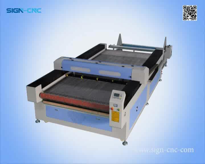 Autofeeding garment fabric laser cutting machine price SIGN-1610