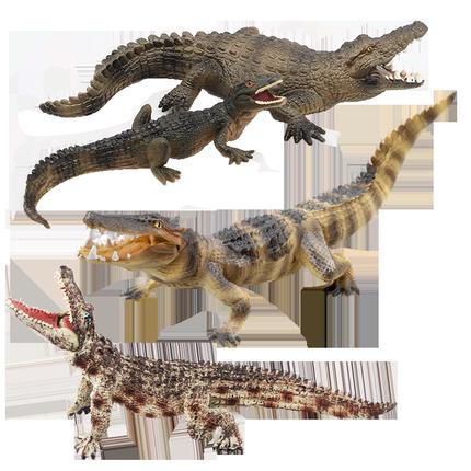 玩模乐仿真动物野生鳄鱼鳄儿童玩具