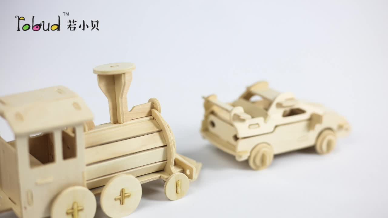 Robotime 3d wooden animal puzzles patterns flamingo model toys for kids