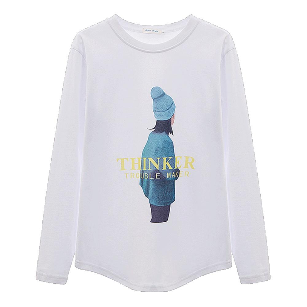 2021春装新品白色t恤女长袖打底衫性价比高吗