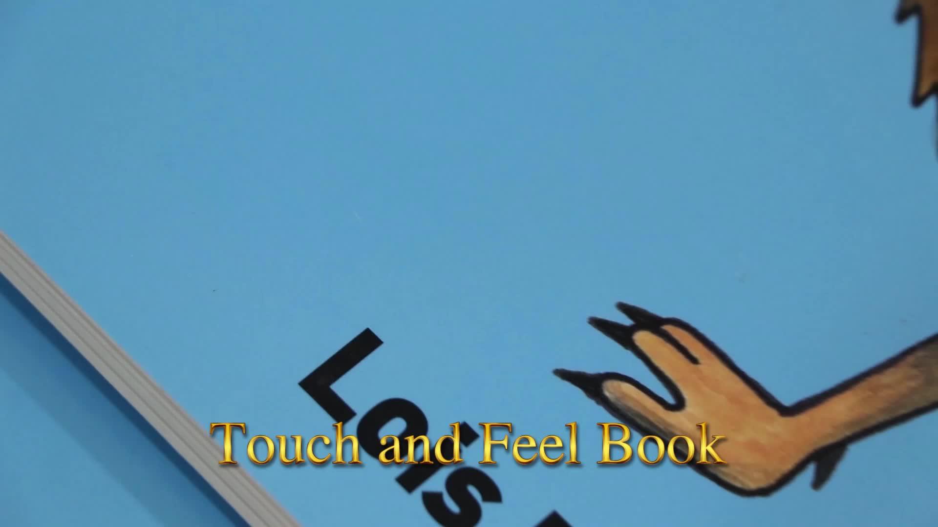 Fabrika Doğrudan Tedarikçi Çocuklar için Dokunmatik Kitap çocuk Karton Kitap Baskı Hizmeti Çocuk Dokunmatik Kitap Baskılı