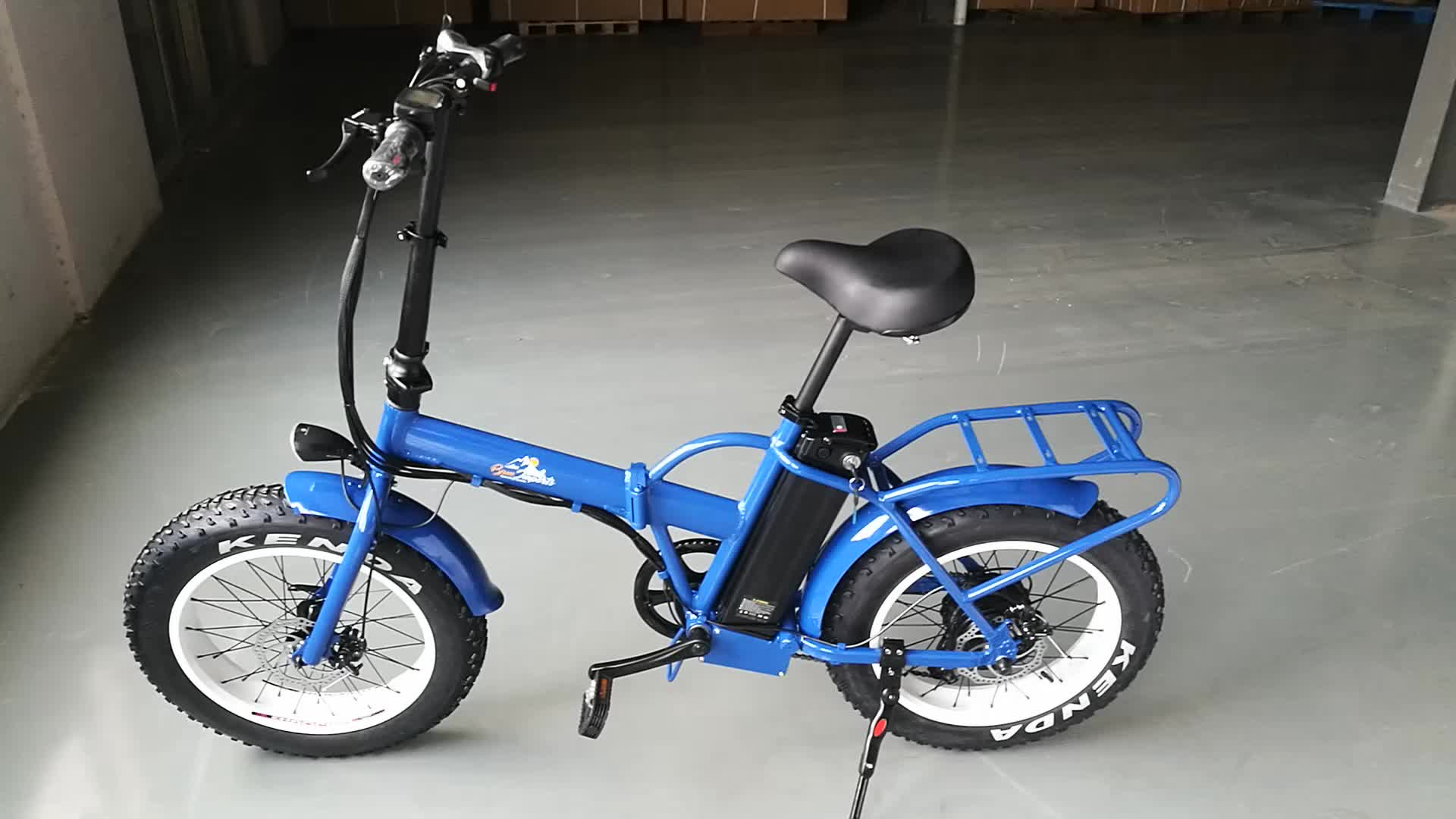 CE electric folding fat tire bike 20