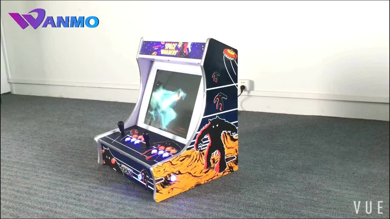 19 inch LCD space invaders desktop arcade cabinet, mini bartop arcade game  machine available raspberry pi 3, View bartop arcade, Wanmo Product Details