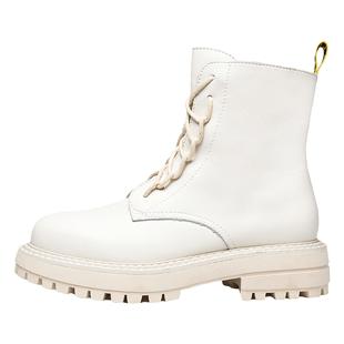 馬克華菲馬丁靴女加絨2020秋冬新款網紅短靴英倫風百搭厚底單靴潮