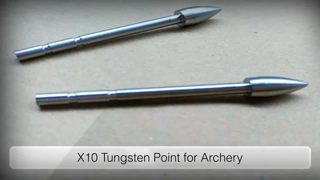 Good quality bullet shape X10 tungsten point for archery standard assembly high flexibility tungsten weights