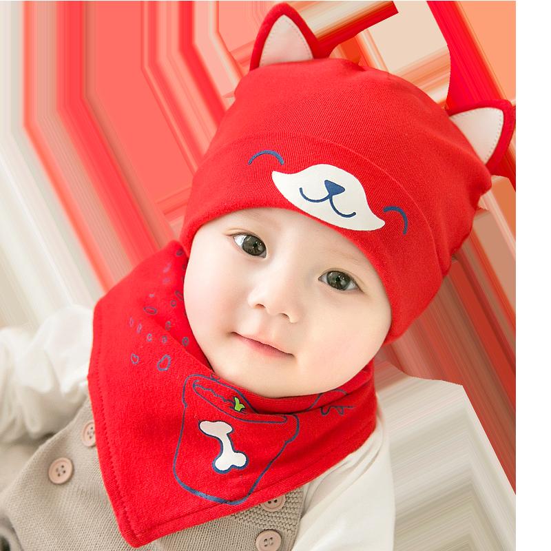 【公主妈妈】婴儿双层纯棉针织帽子