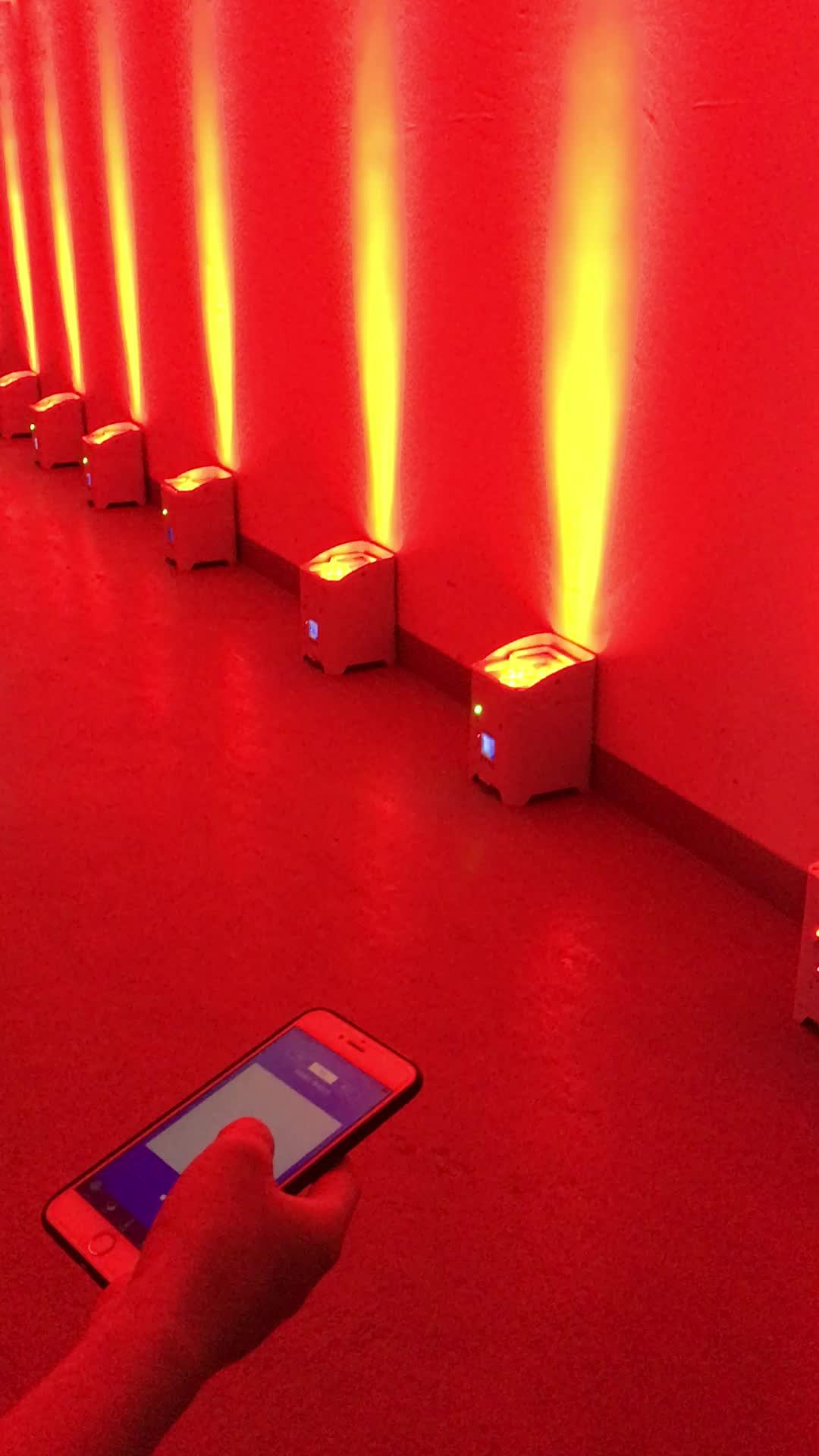 6x18 wát rgbwauv 6in1 led pin không dây wifi ánh sáng, par