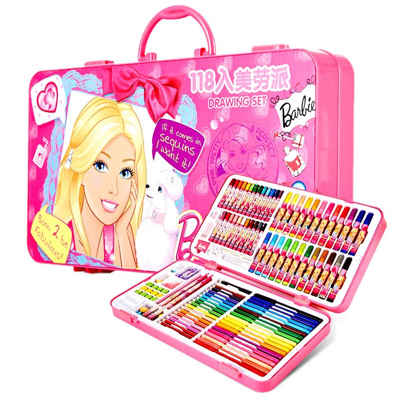 儿童画笔套装学习用品芭比小学生