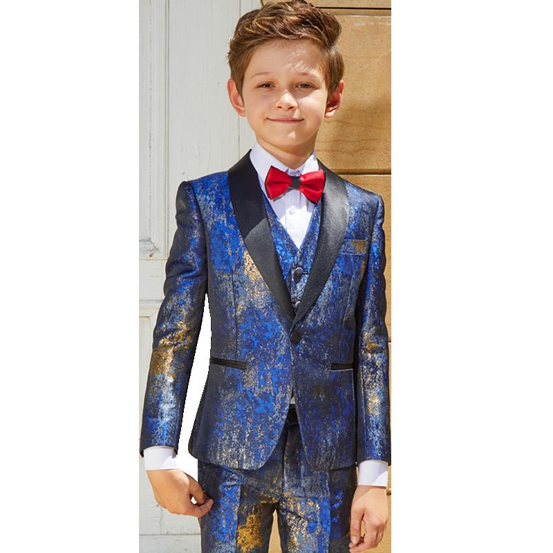 儿童西装套装帅气花童小西装男童礼服英伦风主持人走秀男孩演出服