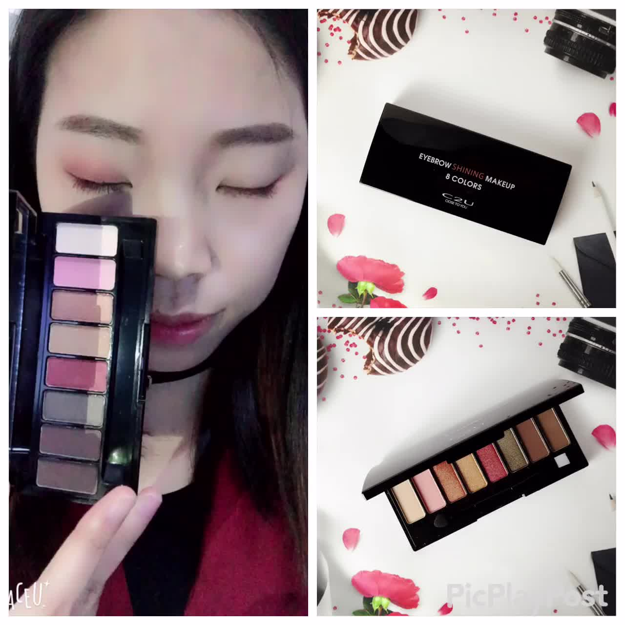 factory price vintage  8 colors private label eyeshadow palette with mirror