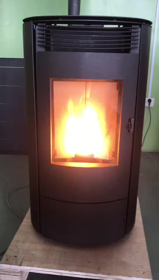 Cylindrical Pellet Stove 8kw 10kw Buy Cylindrical Pellet