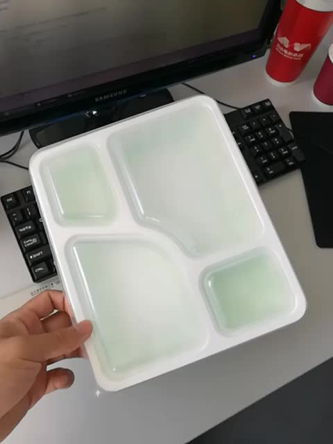 Class 4 compartment plastic school food disposable lunch tray