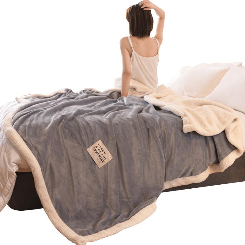 毛毯被子加厚冬季珊瑚绒毯子法兰绒午睡床单厚款保暖单人宿舍学生