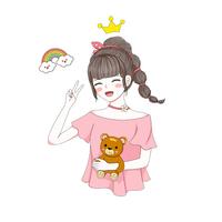 网红女孩贴纸布置温馨床头墙贴画好用吗