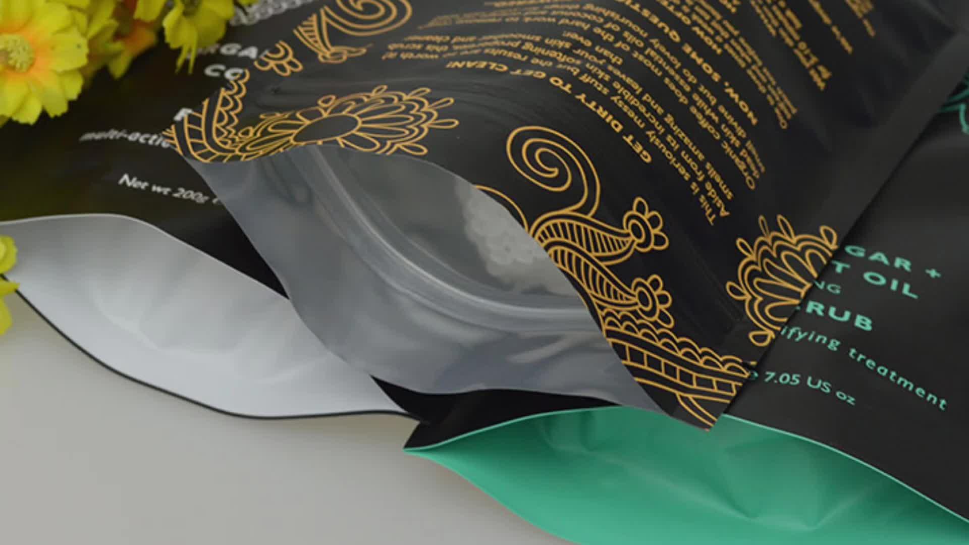 özel alüminyum folyo gıda ayağa plastik fermuarlı çanta toptan baskı