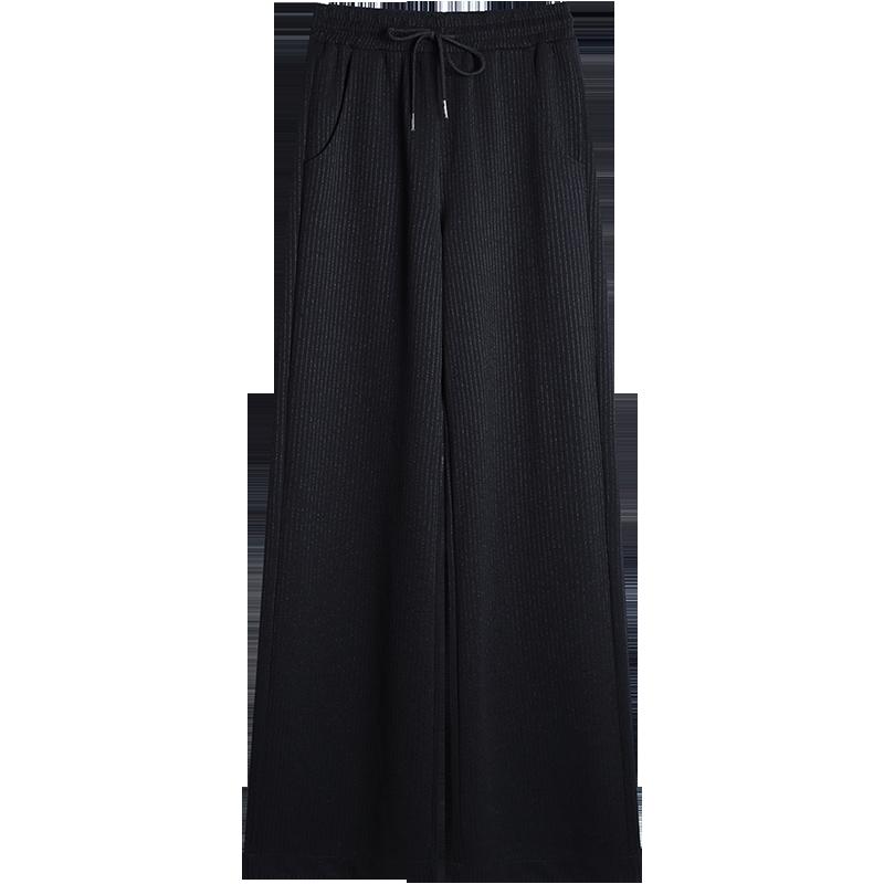2020新款高腰垂感显瘦阔腿裤