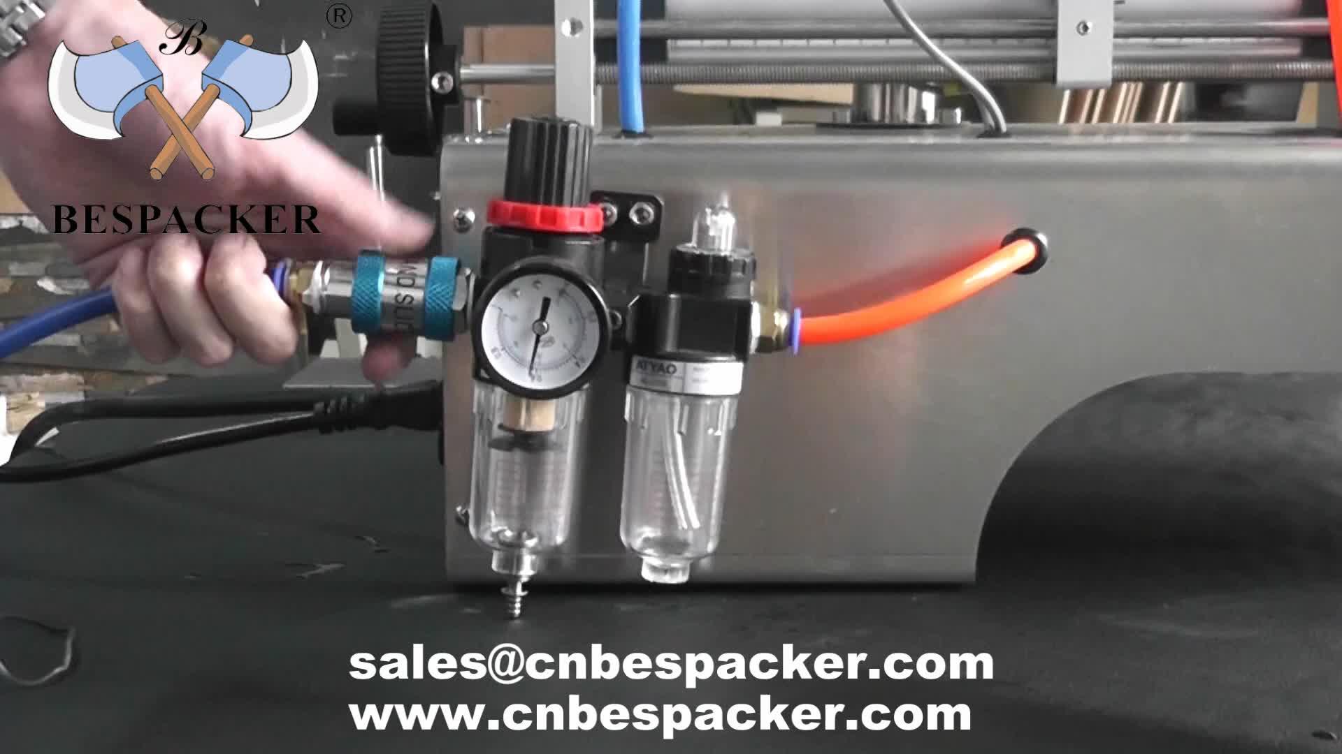 G2WTD MÉLANGE ET CHALEUR Pneumatique acier inoxydable semi-automatique petite bouteille machine de remplissage