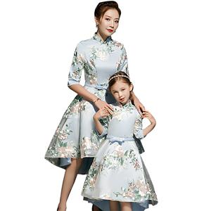 母女装洋气2019年新款春秋季旗袍裙