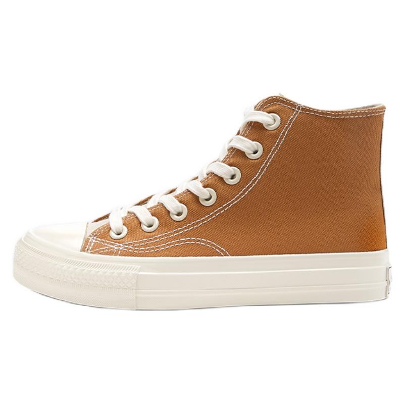 热风春季新款高帮百搭帆布鞋评价好不好