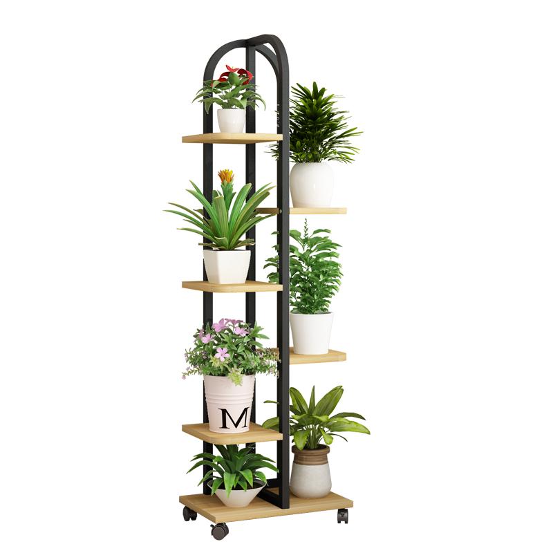 赤木花架铁艺多层置物架落地式花盆质量如何