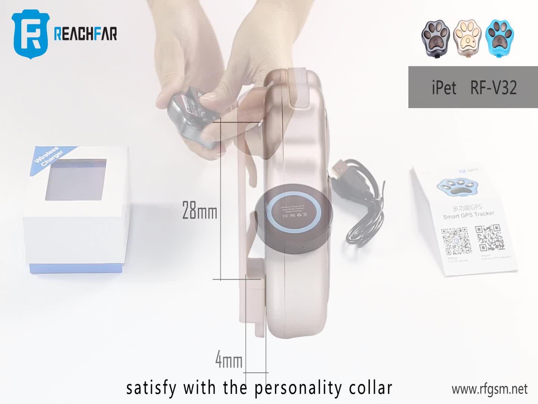 Popular Mini Pet GPS Tracker com de Rolamento LEVOU Lanterna À Prova D' Água