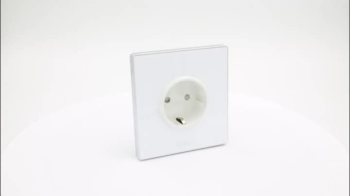 BIHU European Standard Extension Cord Plug Socket with Cover