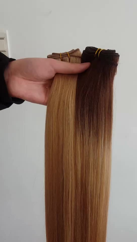 Hair weaves real human hair extensions double drawn wholesale hair weave