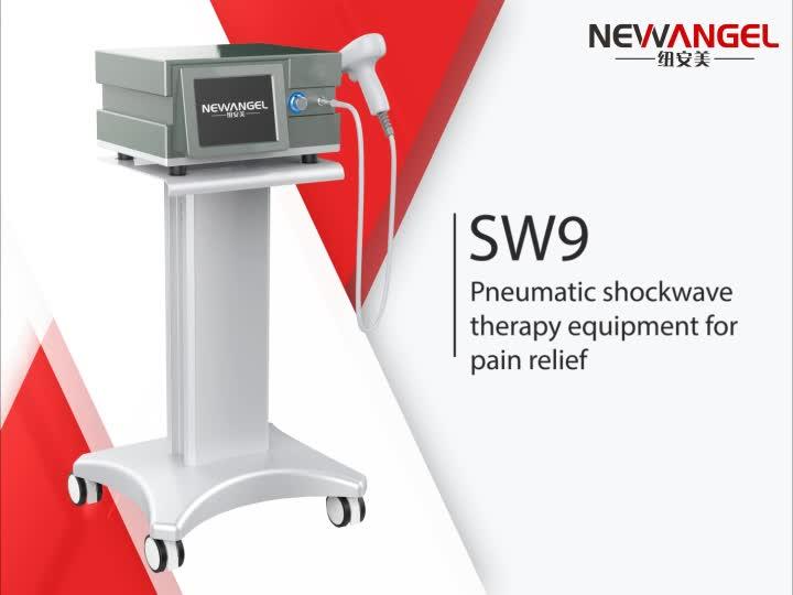Neumático de choque extracorporal máquina de la terapia para el cuerpo de alivio del dolor