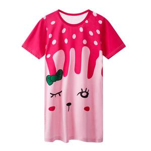 睡裙短袖夏季女童装纯棉亲子公主裙