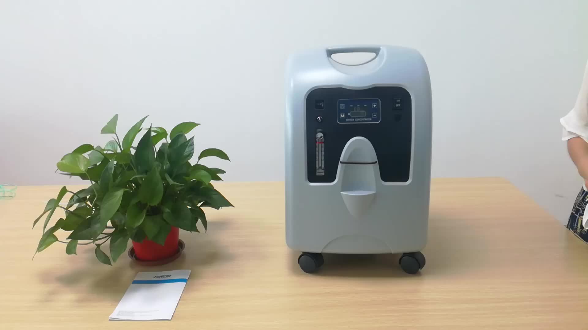 의료 기기 5L 휴대용 CE & ISO 인증 의료 장비 산소 농축기 COPD