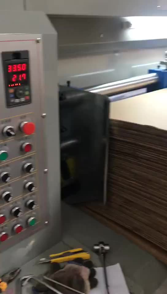 1400*2400 corrugated paperboard printing and slotter machine with leader feeder