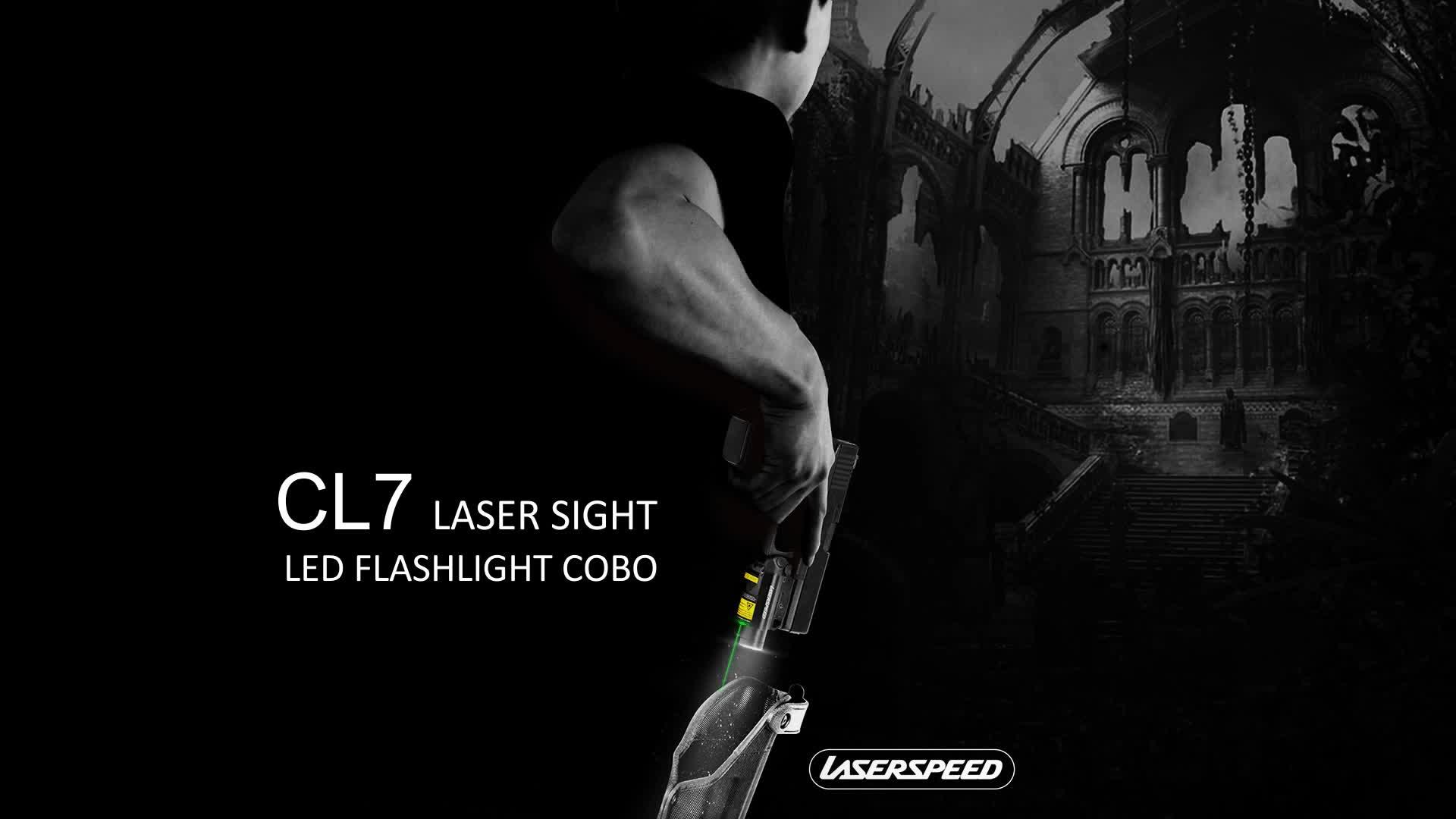 Corps en alliage d'aluminium magnétique led combo pistolet laser vue pistolets à air et armes