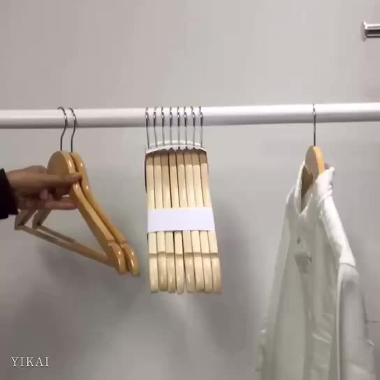 YIKAI A Grade wholesale wood clothes hanger