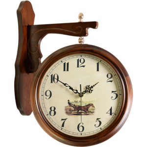欧式双面仿古创意大号客厅现代挂钟