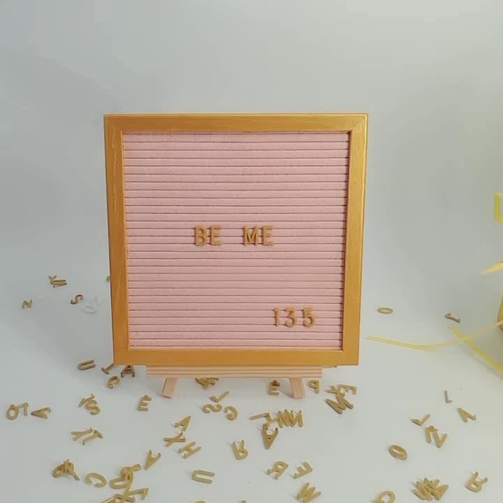 Hot Sale Wooden felt Letterfolk letter Board