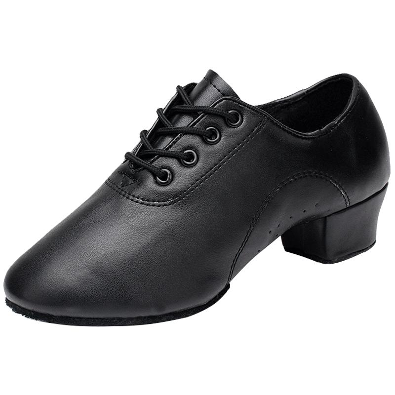 男士拉丁舞鞋男童鞋舞蹈鞋黑色女儿童软底练功鞋牛皮广场舞鞋春夏