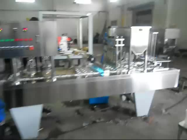 Good price automatic plastic mineral water cup filling and sealing machine