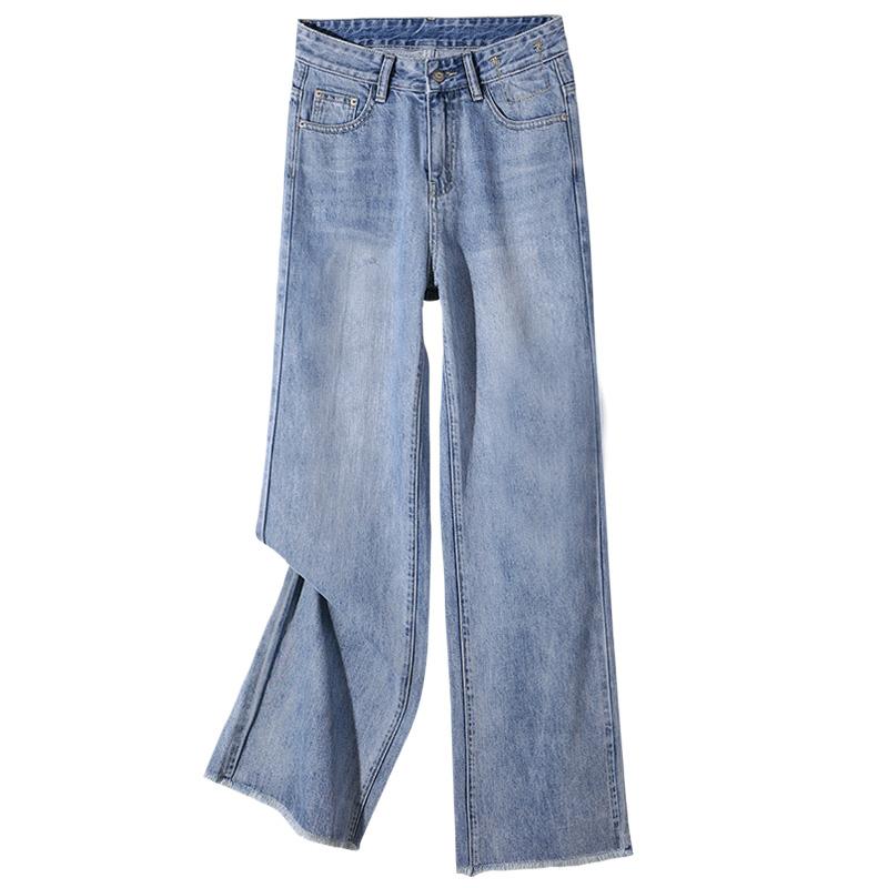 阔腿直筒宽松2021年春季新款牛仔裤质量如何