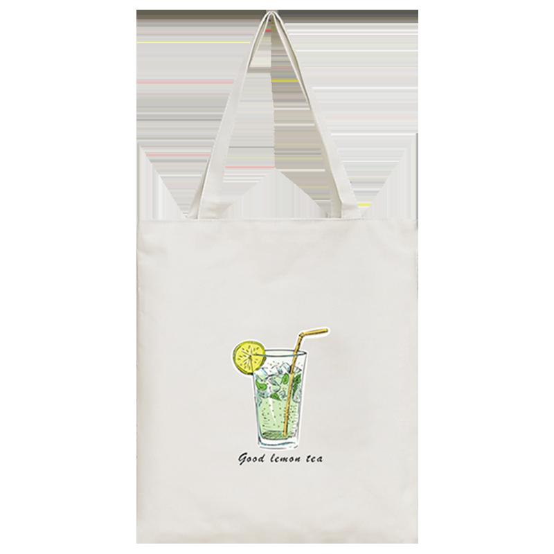 帆布包女斜挎学生单肩包日系百搭包包拎书袋子手提包大容量帆布袋