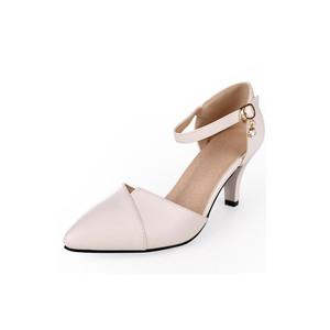 荭婧蜒真皮包头凉鞋新款细跟高跟鞋