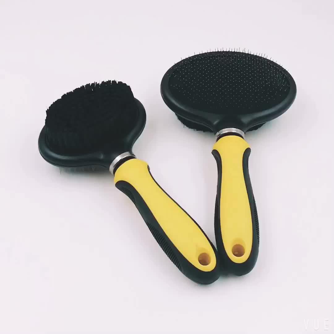 Pet product double side dog slicker brush
