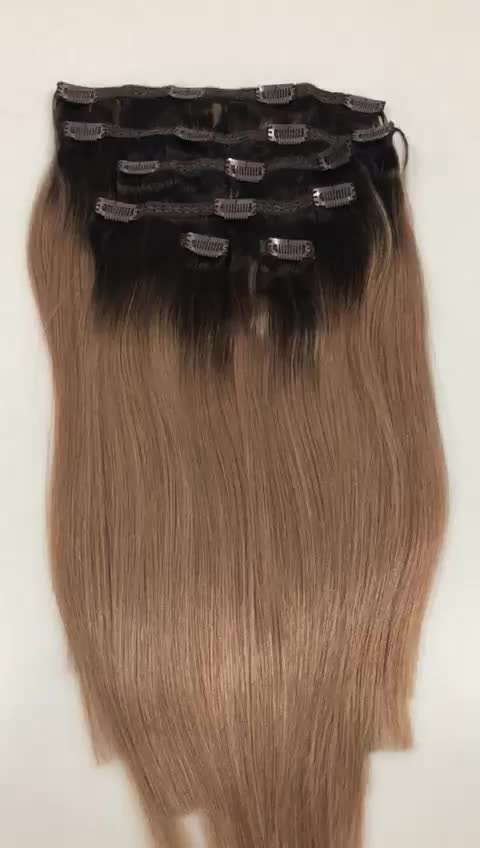 Wholesale Price Remy Russian Human Hair Extension Blond Color Clip