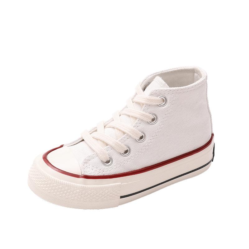 亲子鞋母子儿童高帮2021年帆布鞋使用评测