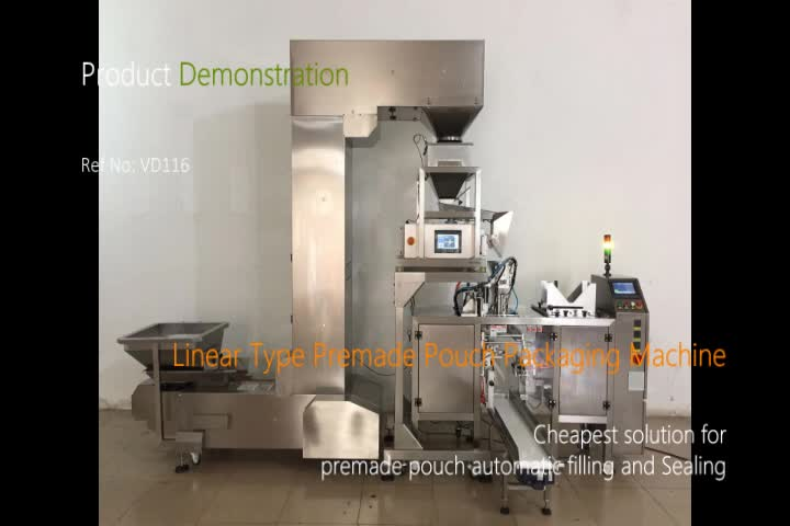 T Linear Type Automatic Premade Pouch Packing Machine