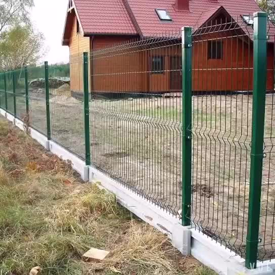 Trade Assurance Pvc Coated V Pressed Welded Wire Mesh Fence,Panel ...