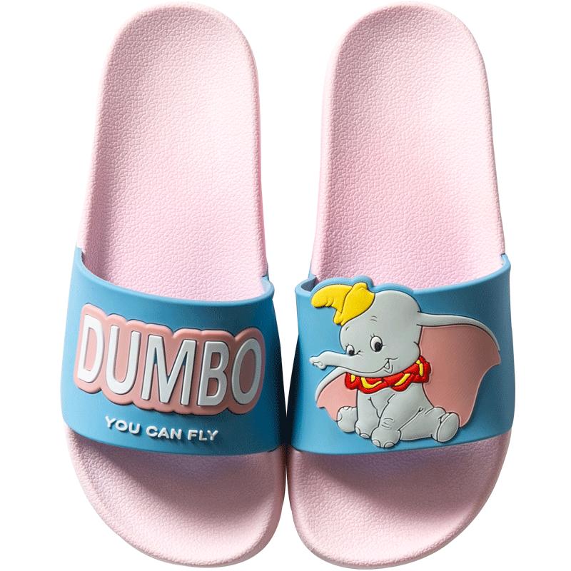 新款小飞象潮流情侣凉拖鞋