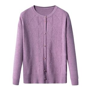 中老年女装2021新款春秋季外套毛衣