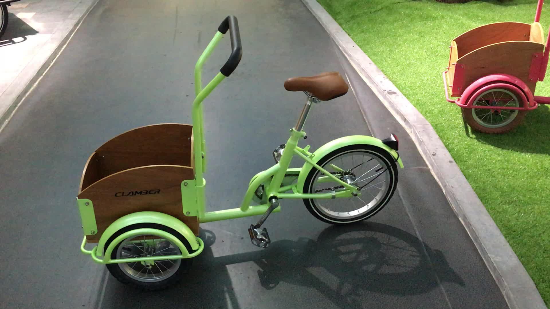 Kids cargo bike with 3 wheel tricycle 16 inch single speed bike bicycle child cycling children UB9035