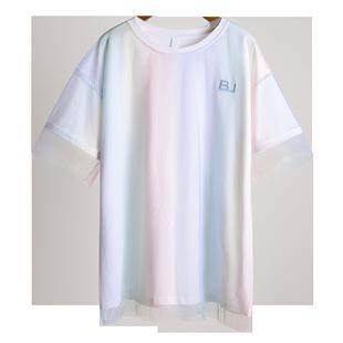2020年新款短袖T恤女ins潮網紅上衣服夏韓版學生寬鬆女裝夏裝超火
