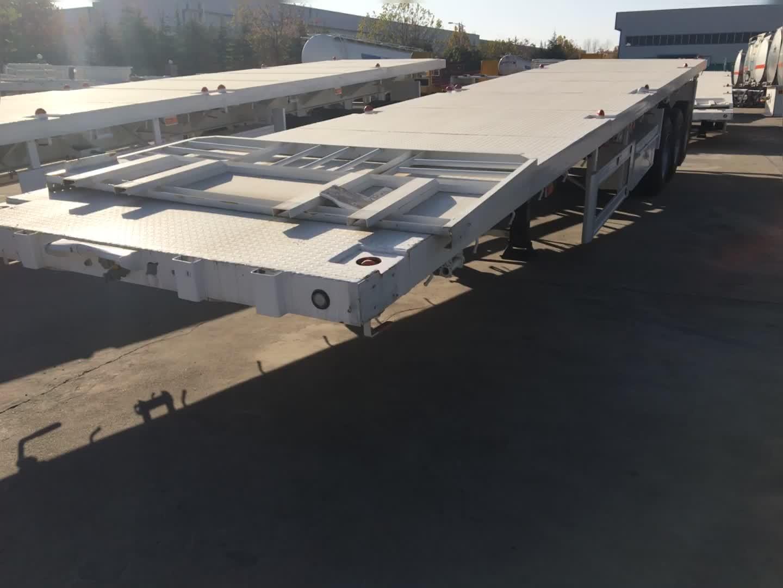 Giá thấp chất lượng cao tri-trục 3 trục 40ton 40 ft phẳng giường phẳng container trailer bán sử dụng xe tải trailer giá